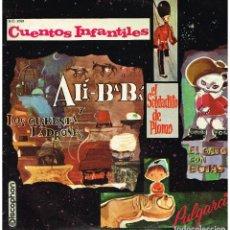 Discos de vinilo: CUENTOS INFANTILES - ALI BABA / SOLDADITO DE PLOMO / GATO CON BOTAS / PULGARCITO - LP 1967. Lote 195201482