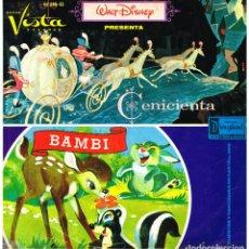 Discos de vinilo: CENICIENTA / BAMBI - LP 1966. Lote 195202111
