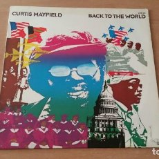 Discos de vinilo: LP CURTIS MAYFIELD BACK TO THE WORLD BUDDAH 1973 GERMANY. Lote 195202248