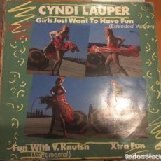 Discos de vinilo: CYNDI LAUPER: GIRLS JUST WANT TO HAVE FUN. Lote 195203942