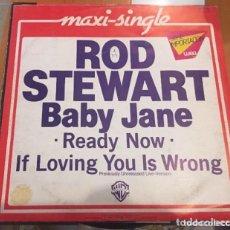 Discos de vinilo: ROD STEWART: BABY JANE READY NOW. Lote 195207127