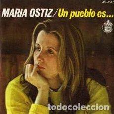 Discos de vinilo: MARIA OSTIZ – UN PUEBLO ES... - SINGLE HISPAVOX 1977. Lote 195207130