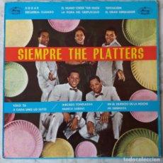 Discos de vinilo: THE PLATTERS. SIEMPRE. LP ESPAÑA 1990. Lote 195207787