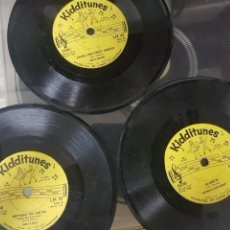 Discos de vinilo: LOTE DE 3 RAROS DISCOS DE MÚSICA INFANTIL - SINGLES 6 A 78 RPM - MIRAR FOTOS - ARTISTAS VARIOS 1966. Lote 195208893