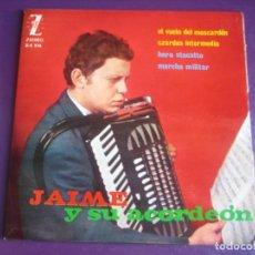 Discos de vinilo: JAIME Y SU ACORDEON EP ZAFIRO 1964 - EL VUELO DEL MOSCARDON +3 - SIN APENAS USO. Lote 195209058