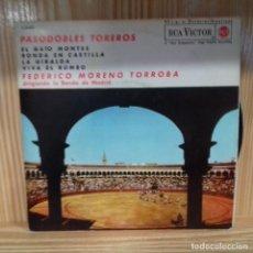 Discos de vinilo: RCA VICTOR PASODOBLES TOREROS FEDERICO MORENO TORROBA. Lote 195210138