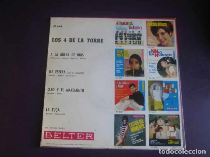 Discos de vinilo: LOS 4 DE LA TORRE EP BELTER 1966 - cleo y el marcianito +3 POP 60S - MAGO DE LOS SUEÑOS - MACIAN - Foto 2 - 195210351