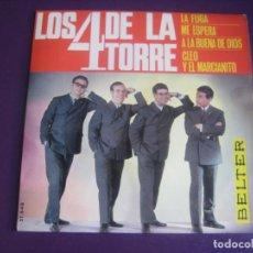 Discos de vinilo: LOS 4 DE LA TORRE EP BELTER 1966 - CLEO Y EL MARCIANITO +3 POP 60'S - MAGO DE LOS SUEÑOS - MACIAN. Lote 195210351