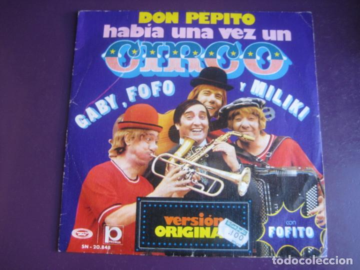LOS PAYASOS DE LA TELE - GABY, FOFO, MILIKI FOFITO SG MOVIEPLAY 1974 - HABIA UNA VEZ UN CIRCO +1 TVE (Música - Discos de Vinilo - Maxi Singles - Música Infantil)