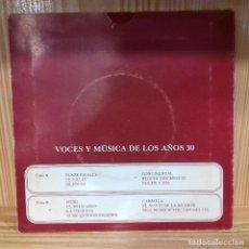 Discos de vinilo: VOCES Y MÚSICA DE LOS AÑOS 30. Lote 195210782