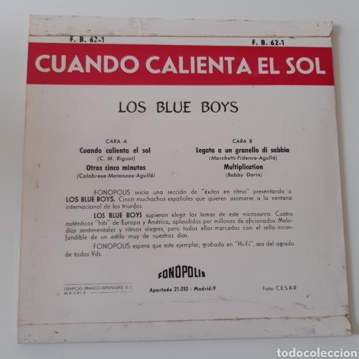 Discos de vinilo: Los Blue Boys – Cuando Calienta El Sol. Fonopolis – FB62 - 1. Vinyl 7, EP. España 1962 - Foto 2 - 195211657