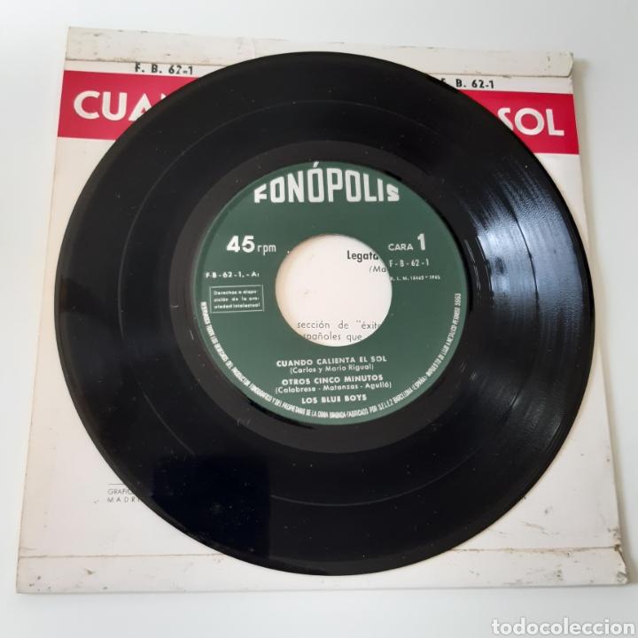 Discos de vinilo: Los Blue Boys – Cuando Calienta El Sol. Fonopolis – FB62 - 1. Vinyl 7, EP. España 1962 - Foto 3 - 195211657
