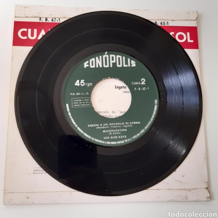 Discos de vinilo: Los Blue Boys – Cuando Calienta El Sol. Fonopolis – FB62 - 1. Vinyl 7, EP. España 1962 - Foto 4 - 195211657