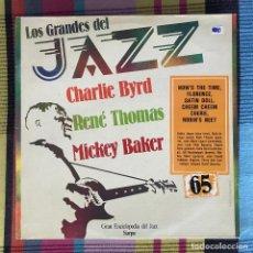 Discos de vinilo: CHARLIE BYRD, RENÉ THOMAS - LOS GRANDES DEL JAZZ 65 - LP SARPE 1981. Lote 195211988