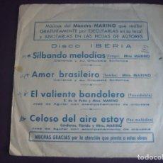 Discos de vinilo: CISNEROS Y ORQUESTA SINFONICA + JOSE DE AGUILAR EP IBERIA 1972 - TANGO - FOX - SAMBA - PASODOBLE. Lote 195212722