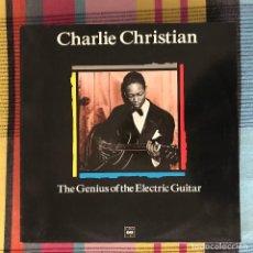 Discos de vinilo: CHARLIE CHRISTIAN - THE GENIUS OF THE ELECTRIC GUITAR - LP MAESTROS DEL JAZZ 1989. Lote 195212818
