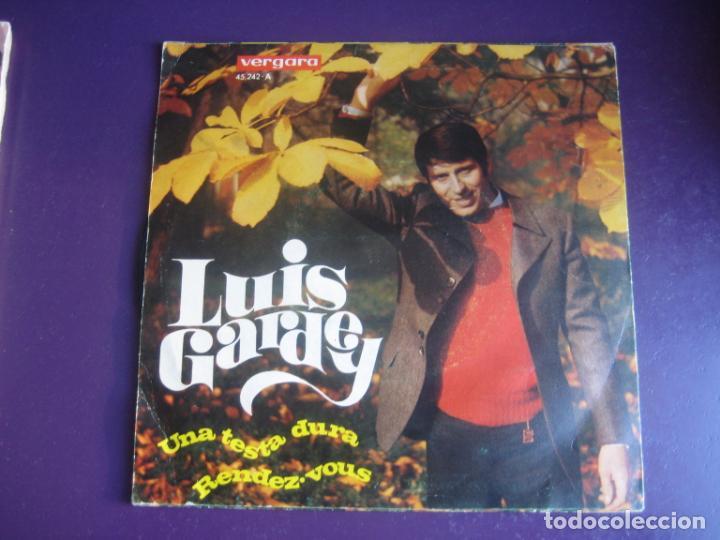 Discos de vinilo: Luis Gardey SG VERGARA 1968 Una Testa Dura / Rendez-Vous - BALADA POP 60S - LIGERAS SEÑALES DE USO - Foto 2 - 195218907