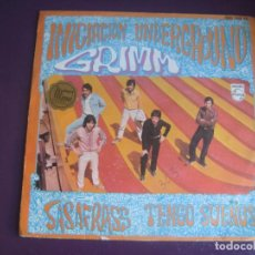 Discos de vinilo: LOS GRIMM SG PHILIPS 1969 INICIACION UNDERGROUND - SASAFRASS / TENGO SUEÑOS - PSICODELIA POP . Lote 195219770