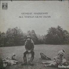 Discos de vinilo: CAJA DE 3 LPS DE GEORGE HARRISON-ALL THINGS MUST PAST-PRIMERA EDICION ESPAÑOLA 1970-CONTIENE ENCARTE. Lote 195219951