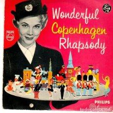 Discos de vinilo: HANS SCHREIBER AND HIS LIGHT MUSIC ORCHESTRA- WODERFUL COPENHAGEN RHAPSODY - EP DENMARK. Lote 195221093
