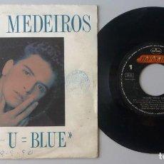 Discos de vinilo: GLENN MEDEIROS / ME - U = BLUE / SINGLE 7 INCH. Lote 195221778