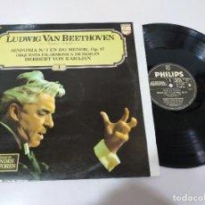 Discos de vinilo: LUDWIG VAN BEETHOVEN SINFONIA N 5 OP 67 KARAJAN - LP VINILO VG/VG. Lote 195223993
