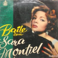 Discos de vinilo: BAILE CON SARA MONTIEL-ORIGINAL AÑO 1958-VINILO EN BUEN ESTADO. Lote 195224763