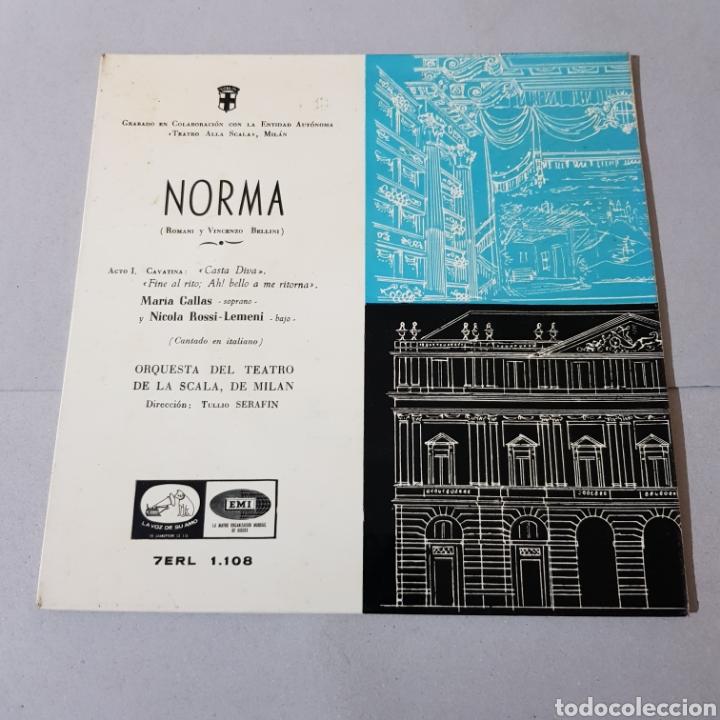 NORMA ( ROMANI Y VICENZO BELLINI ) SOPRANO MARIA CALLAS (Música - Discos - Singles Vinilo - Clásica, Ópera, Zarzuela y Marchas)