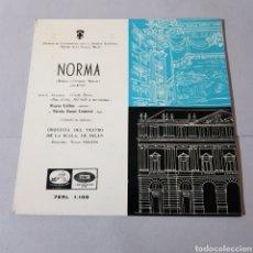 Discos de vinilo: NORMA ( ROMANI Y VICENZO BELLINI ) SOPRANO MARIA CALLAS. Lote 195225978