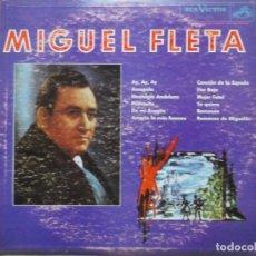 Discos de vinilo: MIGUEL FLETA-AY, AY, AY. Lote 195227561