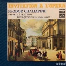 Discos de vinilo: HERBERT VON KARAJAN, PHILHARMONIA ORCHESTRA – INVITATION A L' OPERA SELLO: HIS MASTER'S VOICE – RO. Lote 195229136