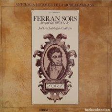 Discos de vinilo: FERRAN SORS INTEGRAL DELS OPUS 31:35 - JOSÉ LUIS LOPÁTEGUI : GUITARRA - EDIGSA 1977. Lote 195229973