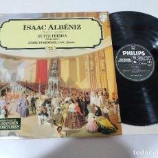 Discos de vinilo: ISAAC ALBENIZ SUITE IBERIA TORDESILLAS PIANO - LP VINILO - VG/VG. Lote 195230962