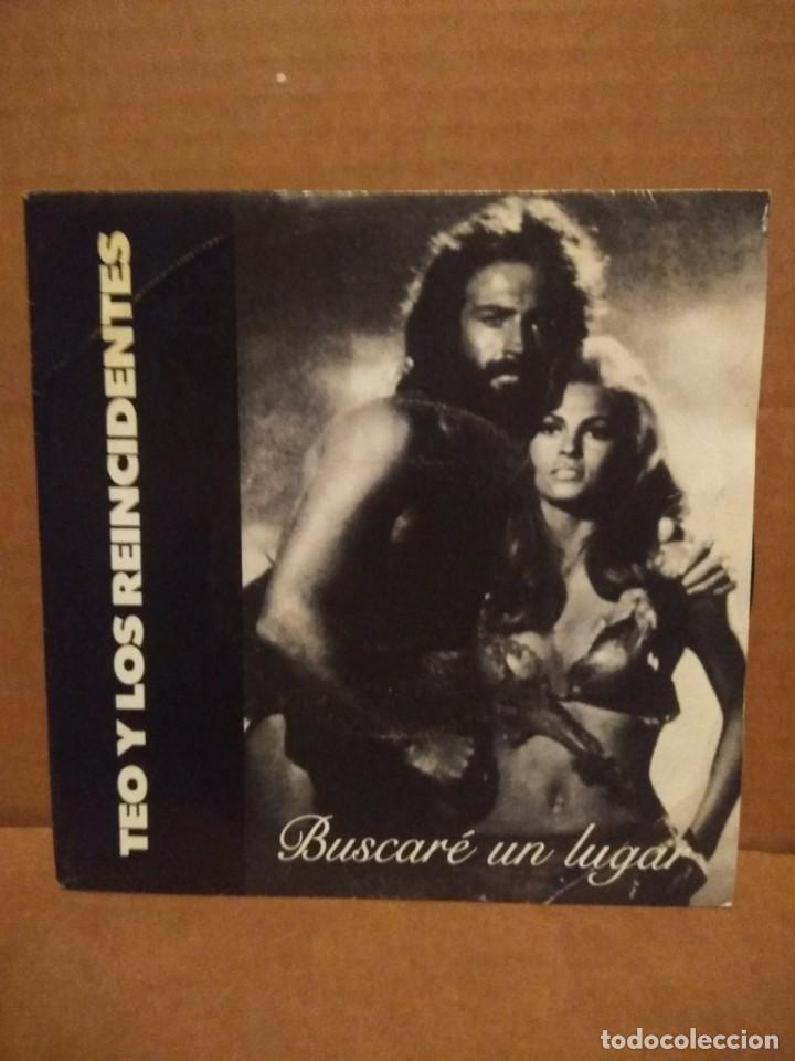 SG TEO Y LOS REINCIDENTES : BUSCARE UN LUGAR ( FOTO RAQUEL WELCH EN EL FILM HACE UN MILLON DE AÑOS) (Música - Discos - Singles Vinilo - Grupos Españoles de los 90 a la actualidad)