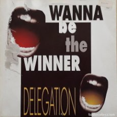 Discos de vinilo: DELEGATION - WANNA BE THE WINNER. Lote 195233541