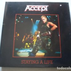 Discos de vinilo: ACCEPT STAYING A LIFE. Lote 195233897