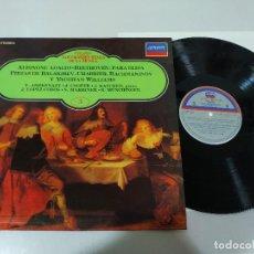 Discos de vinilo: ALBINONI ADAGIO BEETHOVEN PARA ELISA- LP VINILO - VG/VG. Lote 195234365