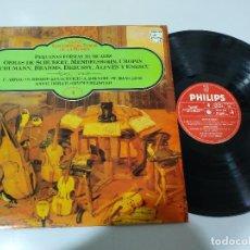 Discos de vinilo: SHUBERT MENDELSSOHN CHOPIN DEBUSSY ENESCU - LP VINILO - VG/VG. Lote 195234693