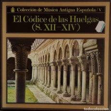 Discos de vinilo: EL CÓDICE DE LAS HUELGAS - HISPAVOX 1970. Lote 195234967