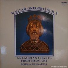 Discos de vinilo: GREGORIAN CHANTS FROM HUNGARY SCHOLA HUNGARICA - HUNGAROTON 1979. Lote 195235463