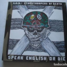 Discos de vinilo: S.O.D.: STORMTROOPERS OF DEATH* SPEAK ENGLISH OR DIE. Lote 195235525