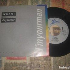 Discos de vinilo: WHAM! I'M YOUR MAN((EPIC 1985) OG ENGLAND LEA DESCRIPCION. Lote 195235553