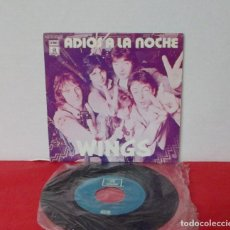 Discos de vinilo: WINGS / BEATLES - ADIOS A LA NOCHE ( GOODNIGHT TONIGHT ) DAYTIME NIGHTIME SUFFERING SINGLE EXCELENTE. Lote 195236476