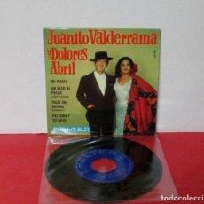 Discos de vinilo: JUANITO VALDERRAMA Y DOLORES ABRIL - MI PESETA + 3 - EP - BELTER 1968 SPAIN -EXCELENTE. Lote 195236775