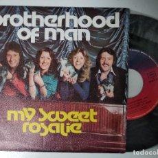 Discos de vinilo: BROTHERHOOD OF MAN - MY SWEET ROSALIE / SUGAR HONEY LOVE - DISCOS BELTER, 1976. Lote 195237927