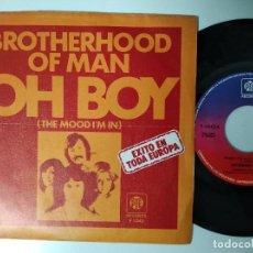 Discos de vinilo: BROTHERHOOD OF MAN - CLOSER, CLOSER / OH BOY 1977 PE EDICION ESPAÑOLA. Lote 195238177