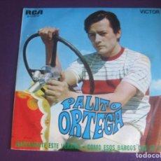 Discos de vinilo: PALITO ORTEGA SG RCA 1970 - NUEVAMENTE ESTE VERANO/ COMO ESOS BARCOS Q SE VAN - POP 60'S . Lote 195238300