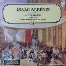 Discos de vinilo: ISAAC ALBÉNIZ - SUITE IBERIA. Lote 195238555