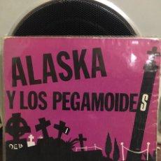 Discos de vinilo: ALASKA Y LOS PEGAMOIDES-EL JARDIN/VOLAR-1982-FLEXI PROMO-RARO. Lote 195238973