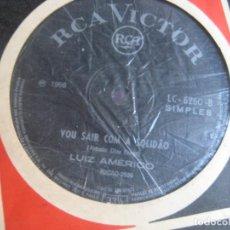 Discos de vinilo: LUIZ AMÉRICO SG RCA BRASIL - VOU SAIR COM A SOLIDÃO / OBRIGADO QUERIDA - POP 60'S. Lote 195240220